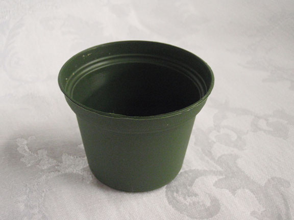 "3"" Plastic Green Pot"